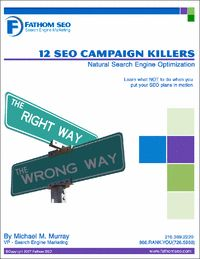 """""""12 #SEO Campaign Killers"""" – Learn what not to do when launching a Search Engine Optimization (SEO) campaign to attract more visitors, leads and sales."""
