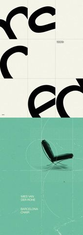 Useful for studying the personality of a typeface. The co-relation between the type and the object (chair) is interesting and matches perfectly. Somewhat laid back.