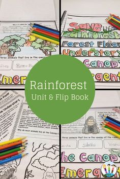 Learning about the Rainforest has never been so much fun! In this unit are 12 passages, organizers, comprehension and connection activities, vocabulary posters, flip up book, and so much more! Your students will love learning all the Rainforest with this