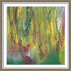 50inch Green Watercolor Print Abstract Watercolor Green
