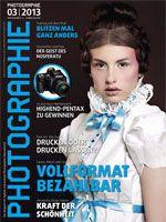 Cover for Photographie Ausgabe 03/2013, Photographer: Andrea Seifert, Stylist: Irmela Schwengler, Hair & Make up: Kerstin Hajdu, Model:  Sophie S./ brodybookings