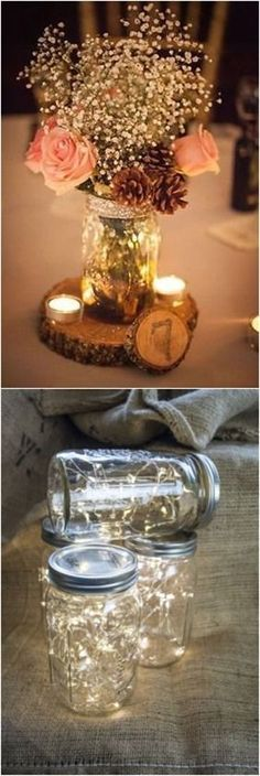 Mason jars wedding decorations ideas