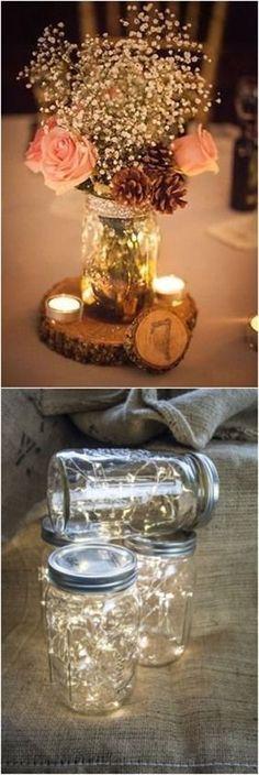 Mason jars wedding decorations ideas