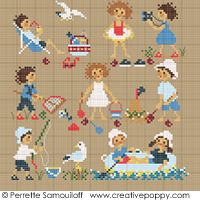 Counted cross stitch pattern by Perrette Samouiloff. Happy Childhood Collection: Seaside