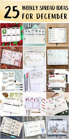 Fun Bullet Journal Weekly Spread Set Up For Students - Bullet Journal Simple Bullet Journal Weekly Spread Layout, Shooting Star Wish, Happy December, Snowy Forest, Bubble Letters, Draw On Photos, New Theme, Minimal Design, Page Design