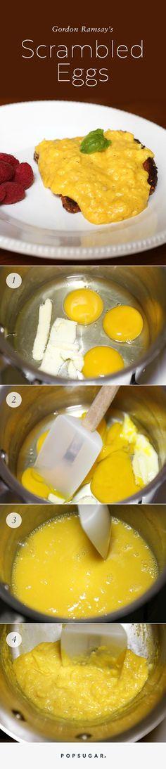 Recipes, Menus, Food & Wine | Gordon Ramsay's Transformative Way to Scramble Eggs | POPSUGAR Food