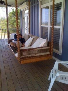 porch swing or outdoor bed? Either way I would never leave the porch