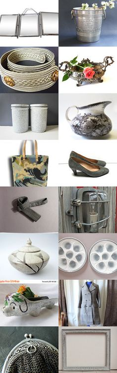 50 shades of grey from the Vintage France Team by Gaël B. on Etsy--Pinned+with+TreasuryPin.com