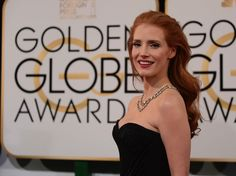 Golden Globes Young Actresses, Jessica Chastain, Golden Globes, Awards, Film, Lady, Brown, Photography, Tops