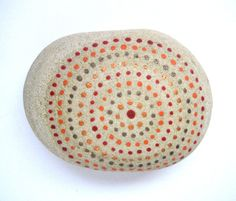 Hand painted Art stone/paperweight. $10.00, via Etsy.