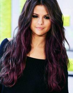 purple highlights selena gomez - Google Search