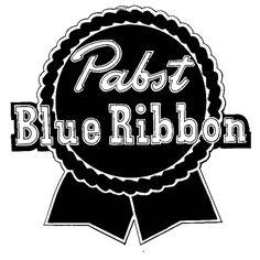 Pabst Blue Ribbon logo registered as trademark on this day in 1951.  #PabstBlueRibbon #PBR #beer #branding #brand #marketing #logo #trademark #history