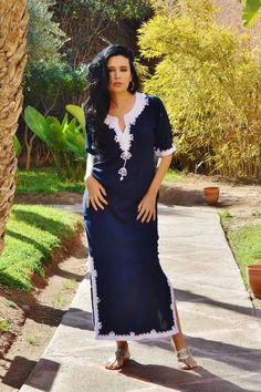 Khalida Style Navy Blue Caftan Kaftan – Maison De Marrakech