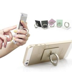 Shipping Worldwide! Only 1,199 Left! 100% Satisfaction Guarantee Take a stand and get a grip with the iRing. This attachable accessory is designed for every smartphone, tablet, or MP3 player! It allow