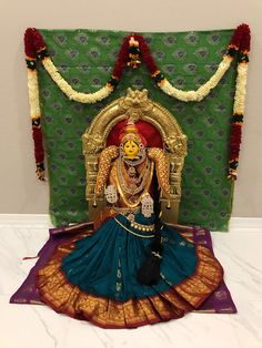 Varalakshmi ammavaru decoration, vara, lakshmi vratham, ammavaru, mahalakshmi