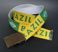 BRAZIL BRASIL BRAZILIAN COUNTRY NATIONAL FLAG BELT BUCKLE BELTS CEINTURsouthamerica #belt #fashionbelt