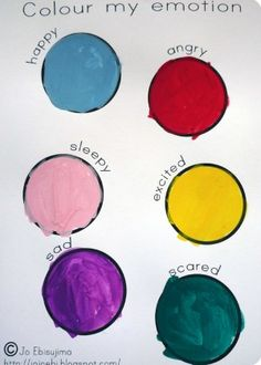 Color My Emotion--an excellent--and simple!-- method to help kids understand their feelings.