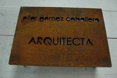 corten steel fits into my landscape plans Wayfinding Signage, Signage Design, Directory Signs, Plasma Cnc, House Names, Corten Steel, Landscape Plans, Environmental Graphics, Steel Plate