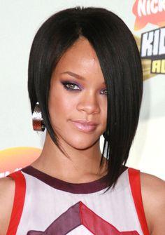 Rihanna First Asymmetric Bob Haircut
