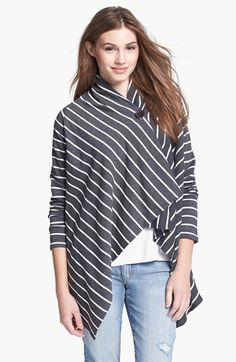 I love this so much I own 2 of my own and have given 2 as gifts to friends for different reasons. Great for lounging. Can be dressed up for lunch out. Great for travel and even nursing moms. Love! Bobeau Asymmetrical Fleece Wrap Cardigan (Regular & Petite) available at #Nordstrom I