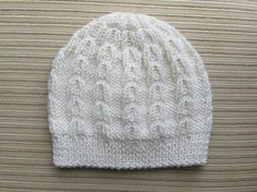 Instant Download Number 93 Knitting Pattern Hat in Linked Ribs Stitch in Sizes Child and Adult