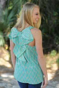 www.shopsimplyme.com  HONEYBEE Green Bow Back Chevron Top - Shop Simply Me Boutique – Simply Me Boutique