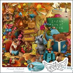 """Photo from album """"Лесная школа"""" on Yandex. 2 Clipart, 1st Birthday Pictures, Free Digital Scrapbooking, Forest School, Design Seeds, Celebration Quotes, Graphic Design Projects, Cover Pages, School Fun"""