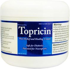 Topricin Pain Relieving Cream 4oz Jar