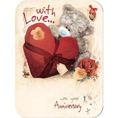 On your Anniversary Me to You Bear Card (A93LF008) : Me to You Online - The Tatty Teddy Superstore.