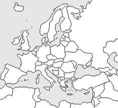 Carte vierge Europe