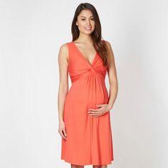 Red Herring Maternity Orange knot front jersey maternity dress- at Debenhams.com