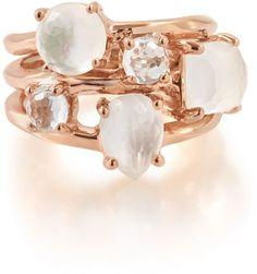 Ippolita Rosé Rock Candy Three-Stone Ring, Size 7