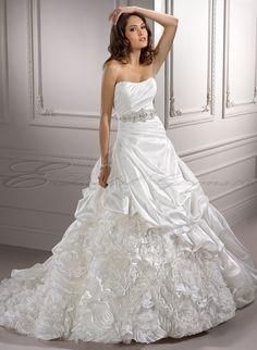 Semi Princess gown with diamond belt