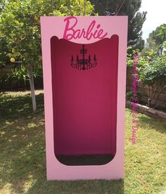 Come on Barbie let's go party! Custom made Barbie box for a sweet princess!  Available for rent!  #Barbie #customprops #props #birthday #photobooth #shadesofpink #chandelier #pinkonpinkeverything #pinkonpink #kidsevents #setdesign #eventplanner #eventdesign #photoops #girlthemes #photosession #girlswanttohavefun #girlsclub