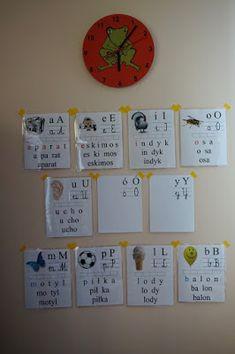 Abecadło | Kreatywnie w domu Clock, Frame, Decor, Watch, Picture Frame, Decoration, Clocks, Decorating, Frames