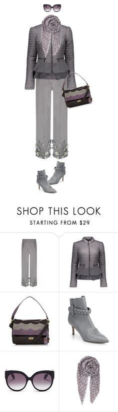 """Workwear"" by hani-bgd ❤ liked on Polyvore featuring Blanc Noir, Mantaray, Valentino, Alexander McQueen, BeckSöndergaard, WorkWear and grey"