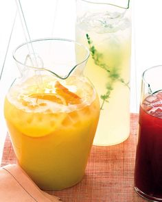 Tropical Ginger Punch | Martha Stewart Living - Pass a pitcher of this refreshing summertime punch at a party, or with a bowl of chips.