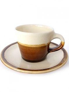画像1: 出西窯 コーヒーカップ&ソーサー