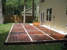 Another view of our floating deck my husband and I constructed.