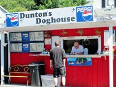 Dunton's Doghouse Boothbay Harbor Maine - need I say more?  A Must do on the bucket list!