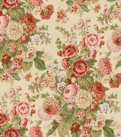 90/10 COTTON/LINEN. Home Decor Print Fabric-Waverly Sitting Pretty Antique at Joann.com