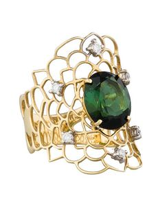 Staurino Fratelli Green Tourmaline & Diamond Lace Ring - was $2495.0, now $795.0 (68% Off). Picked by amyb @ TheRealReal