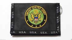 US Army Mens Wallet Keychain Secure Billfold with 2 Zippers for loose change #UnitedStatesArmywallet #Trifold