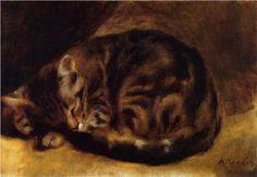 Sleeping Cat - Pierre-Auguste Renoir