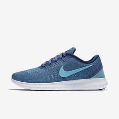 on sale c46e2 8dad9 Nike Free RN Blue Moon Coastal Blue Off-White Polarised Blue Womens Shoes  uk cheap