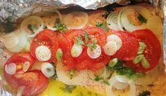 Das Rezept | Lachs im Alu-Paket mit Tomaten und Frühlingszwiebeln