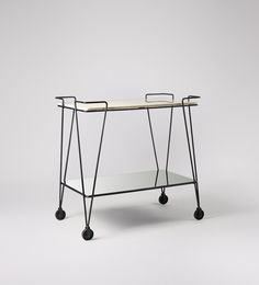 Swoon Editions Bar trolley, contemporary-style in marble & iron - £249
