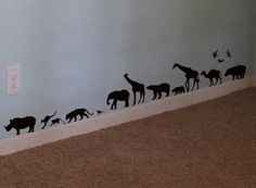 Safari Animals Wall Decal Africa Vinyl Wall Art Decal Sticker. $20.00, via Etsy.