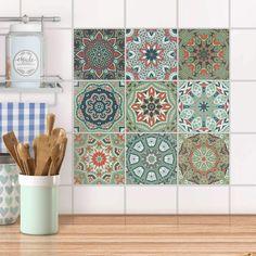 Marokkanische Mosaike in sanften Grüntönen für langweilige Küchenfliesen ❤ Die besten Partys finden in der Küche statt! Deine Küche ist mehr als nur dein Kochtempel - Gestalte deine Fliesen neu und inspiriere deine Kochkünste. Home And Living, Tile Floor, Texture, Deco, Kitchen, Crafts, Riad, Vintage, Design