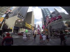 360-degree view of Times Square on a GoPro Hero4 taken around noon on Sunday, August 23, 2015